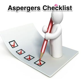 A checklist of things to look for when diagnosing Asperger's Syndrome